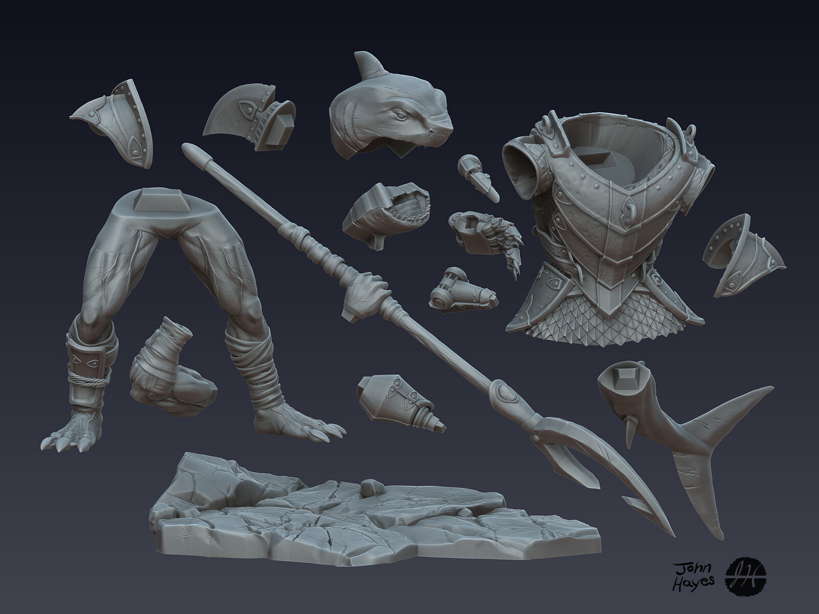 Zbrush part for 3D print.