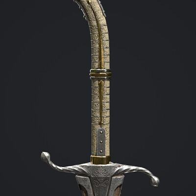 Lukasz krzak dark elf sword game ready lukasz krzak 1