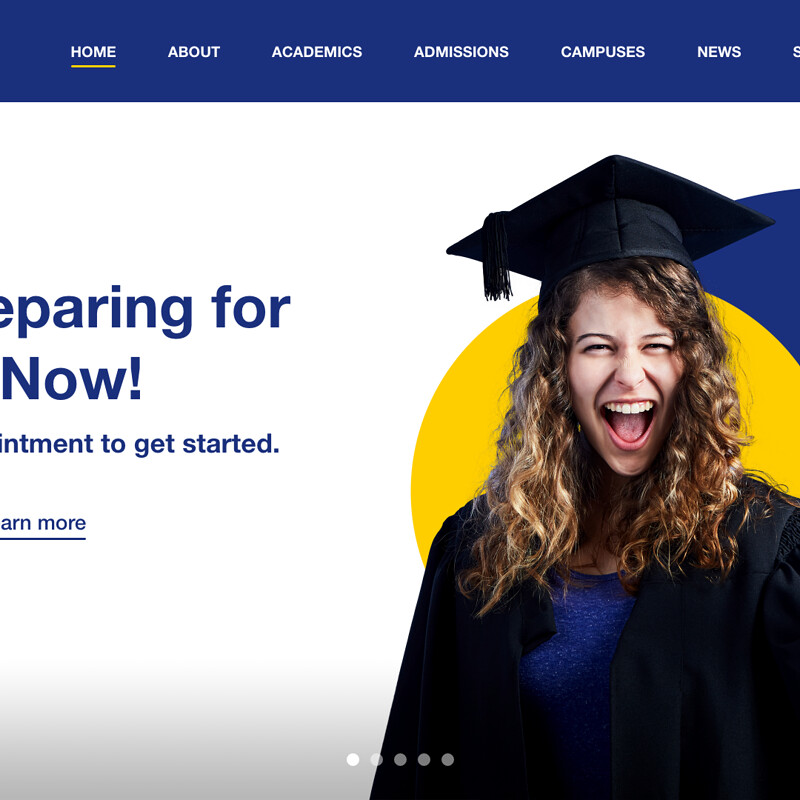 Berkeley College Homepage Header/Nav/Hero Redesign | UI/UX (WEB)