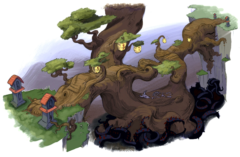 Tree bridge colored version