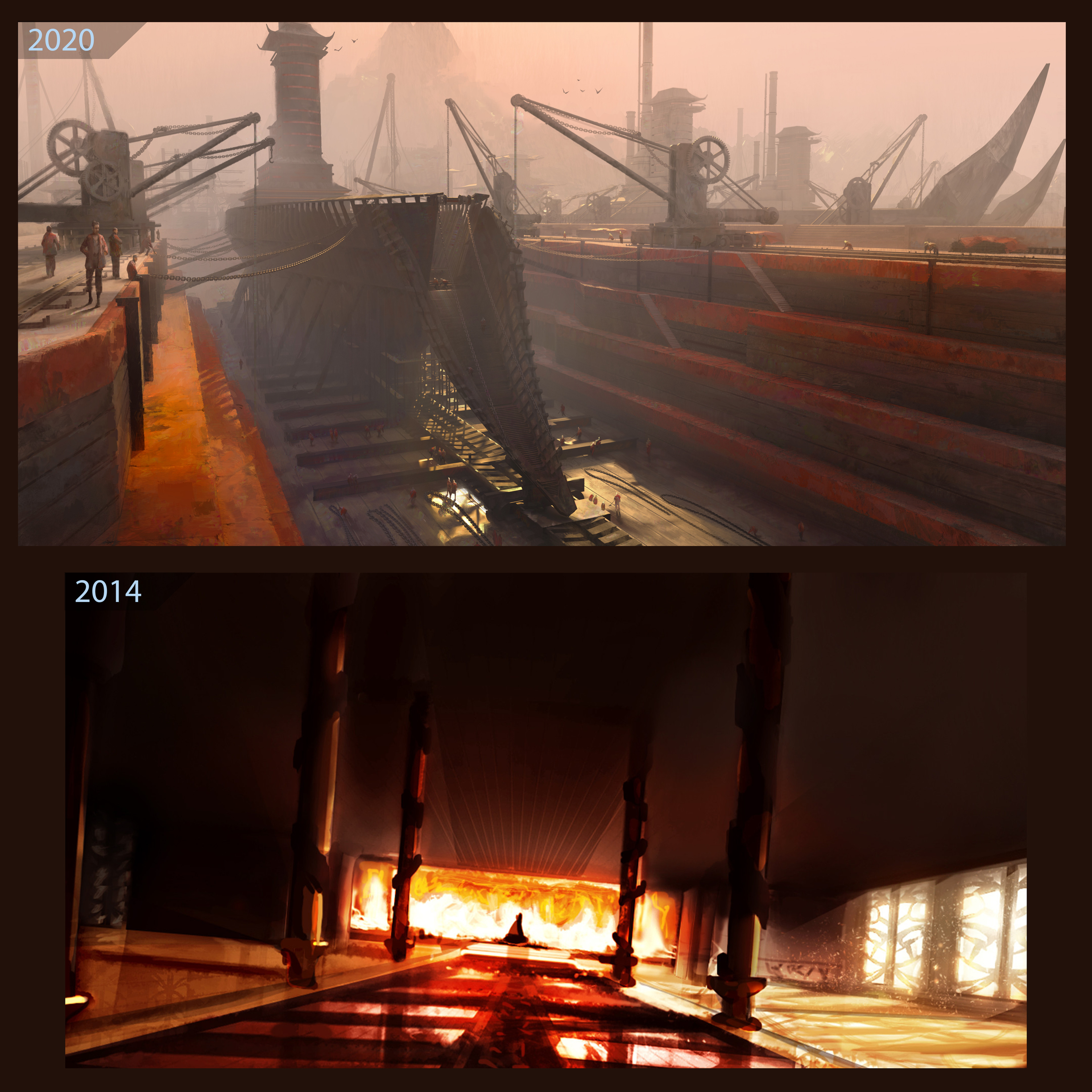 Thought it'd be fitting (or hopefully helpful to other artists) to show the comparison to my 2014 version and this updated one.