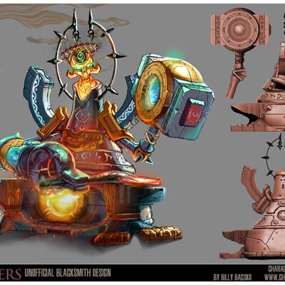 Billy bacsko darksiders blacksmith final render portfolio page