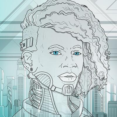 David markiwsky cityscape female 2 poster 75