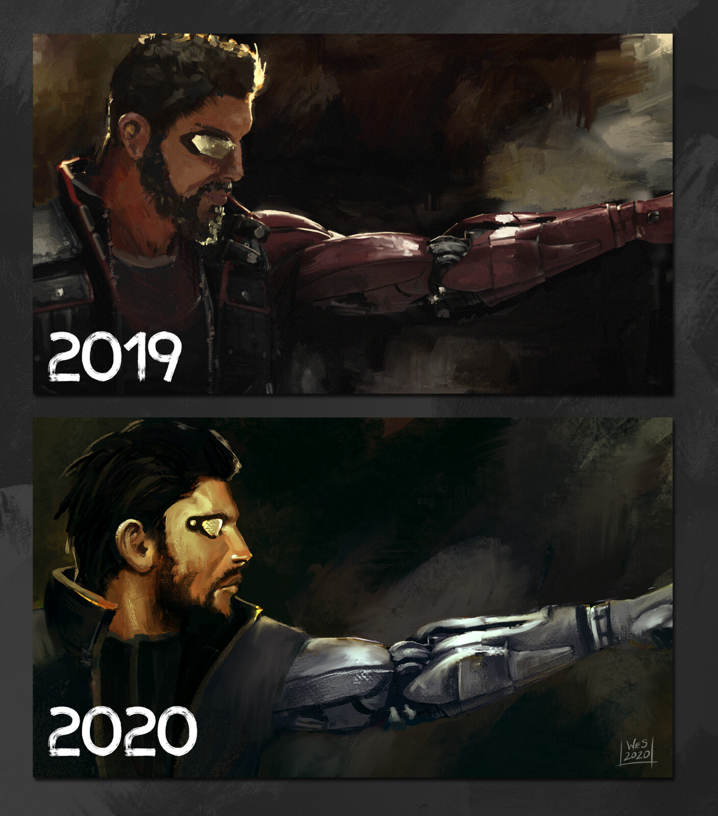 Comparison with the original from 2019