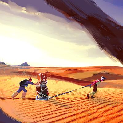 Elisa moriconi concepts desert transporting stuff new character