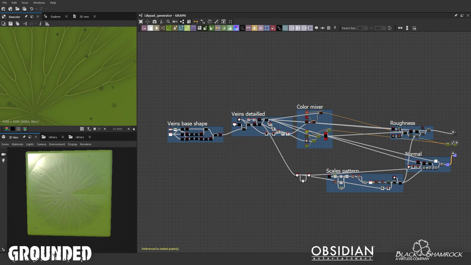 Substance Designer - Leaf creation graph