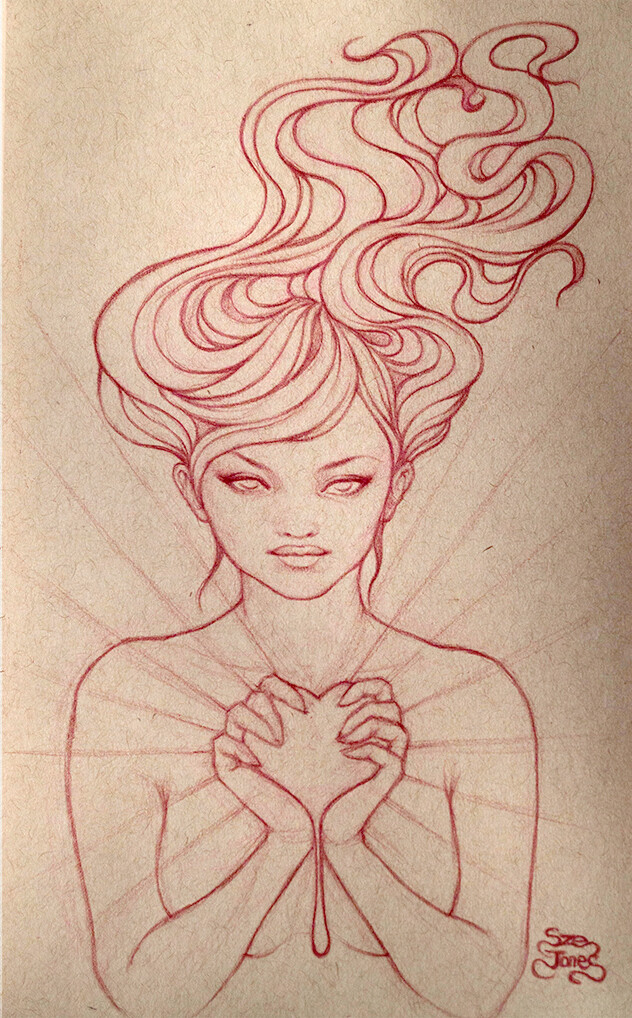 Sacred Heart - Sketch