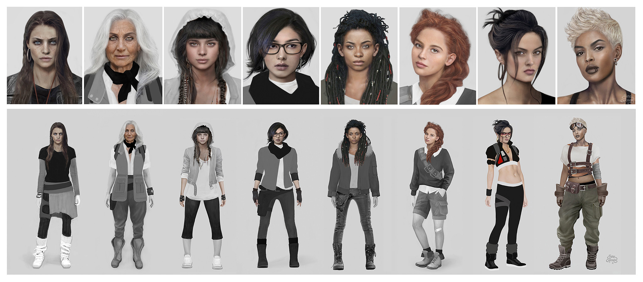 Character Design - Portrait and Costume