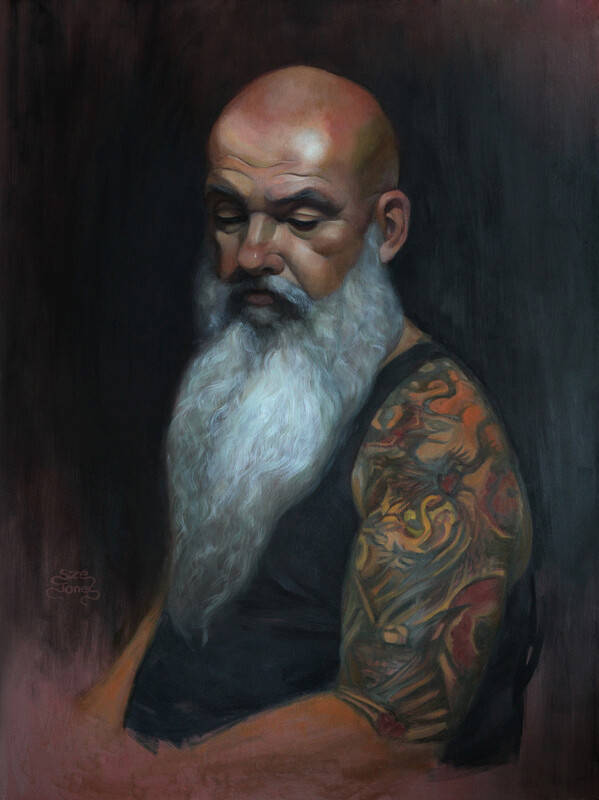 "Portrait Painting - Oil on Board 18"" x 24"""