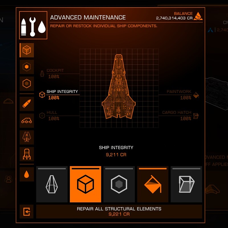 Elite Dangerous Fleet Carriers - Advanced Maintenance UI