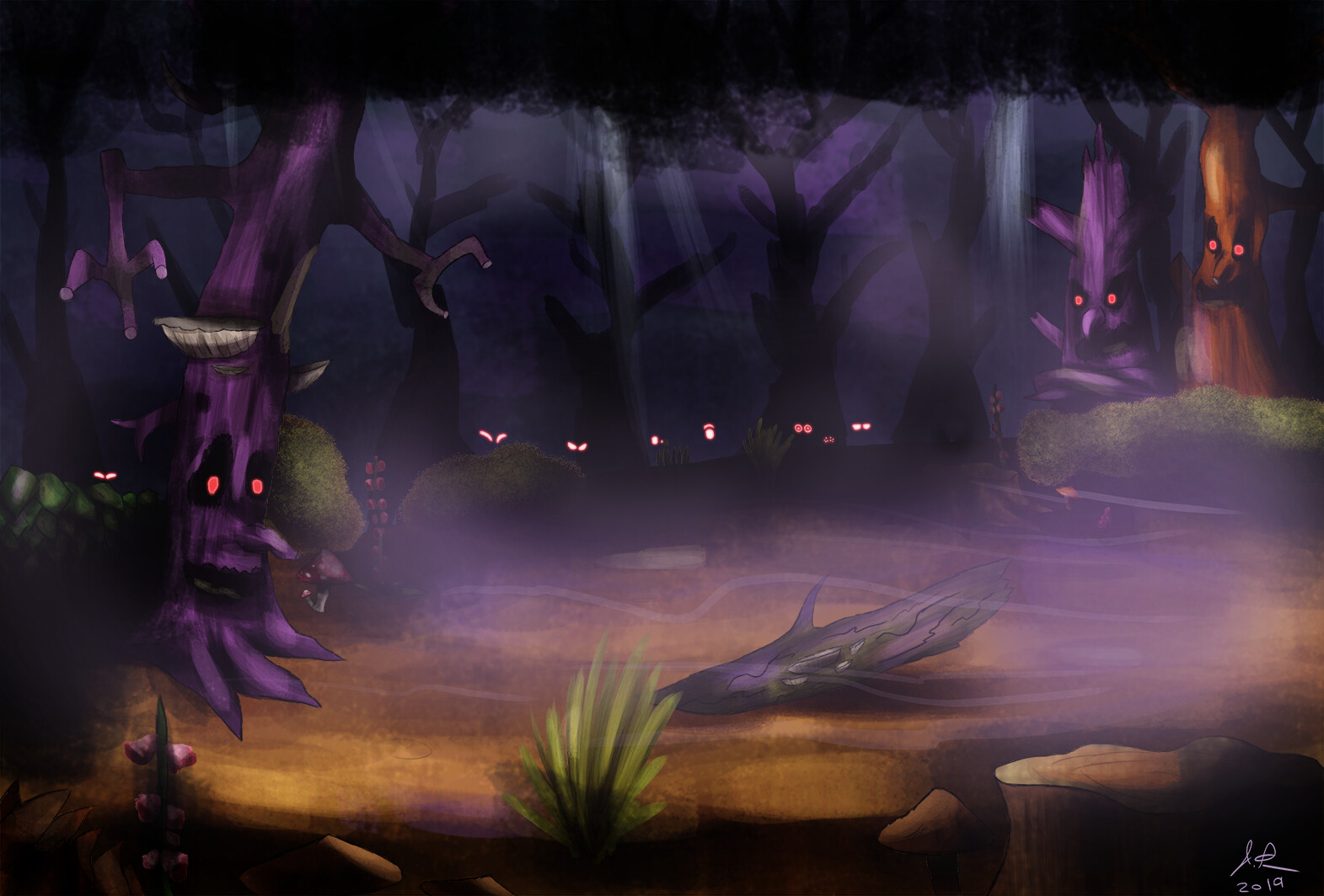The gloomy woods. I was primarily thinking of Donkey Kong Country 2 when making this.