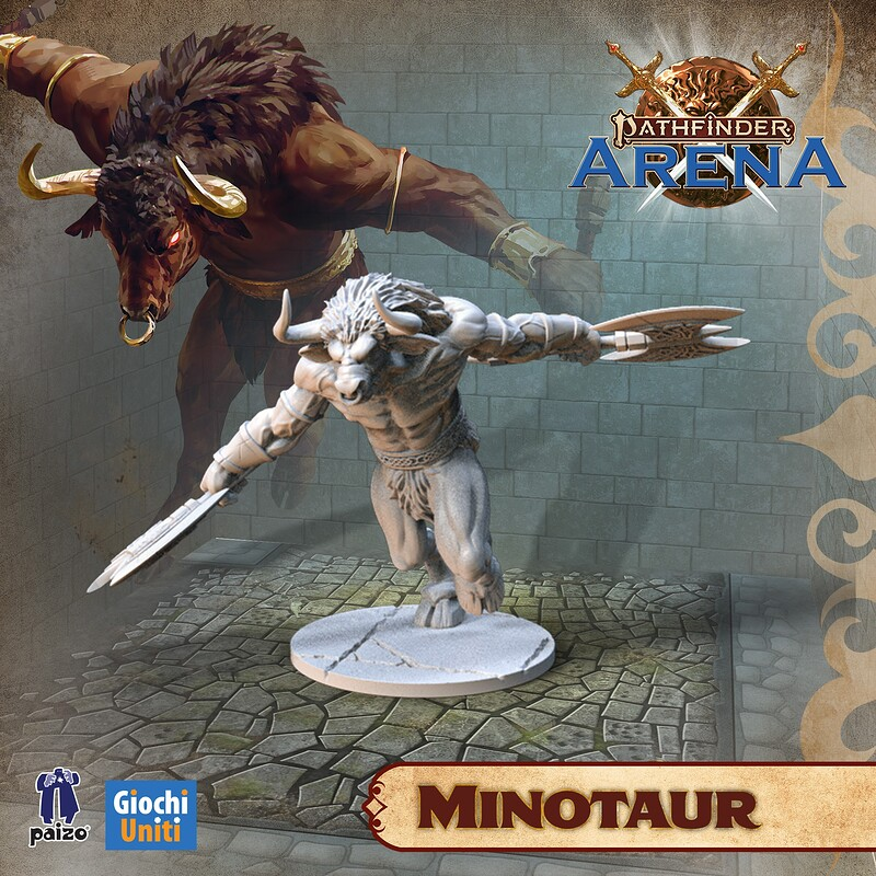 Minotaur Miniature for Pathfinder Arena