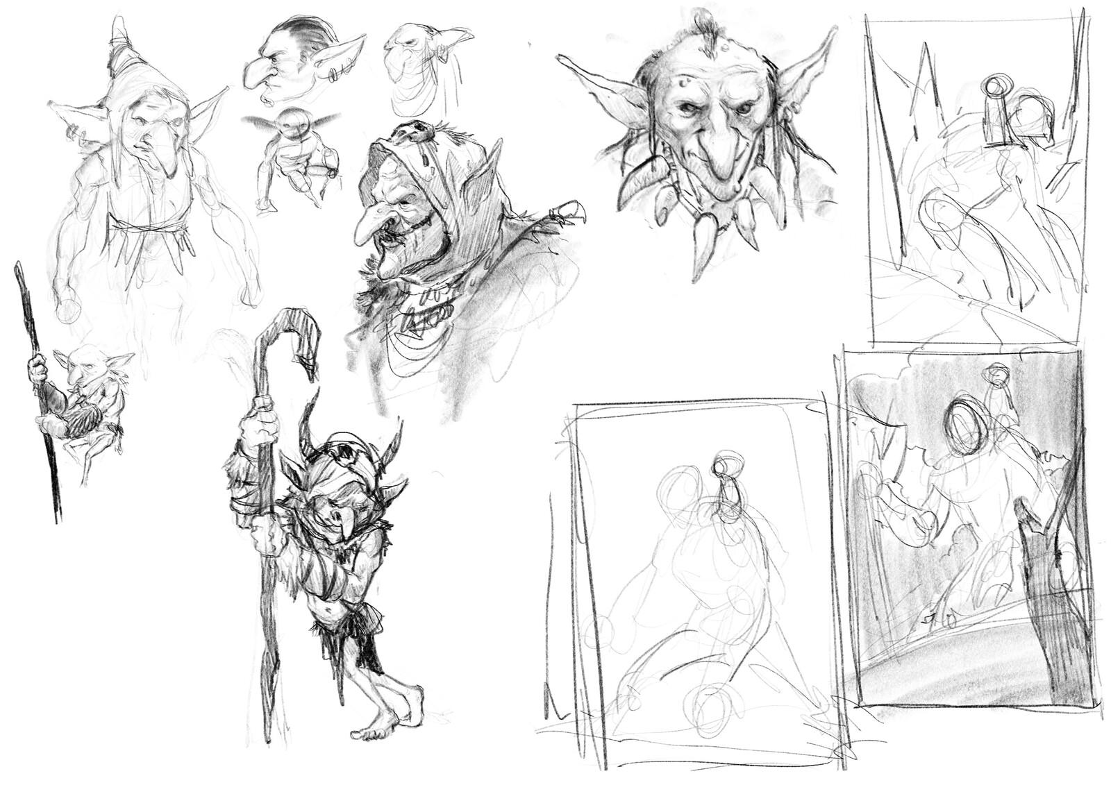 Shaman goblin + composition