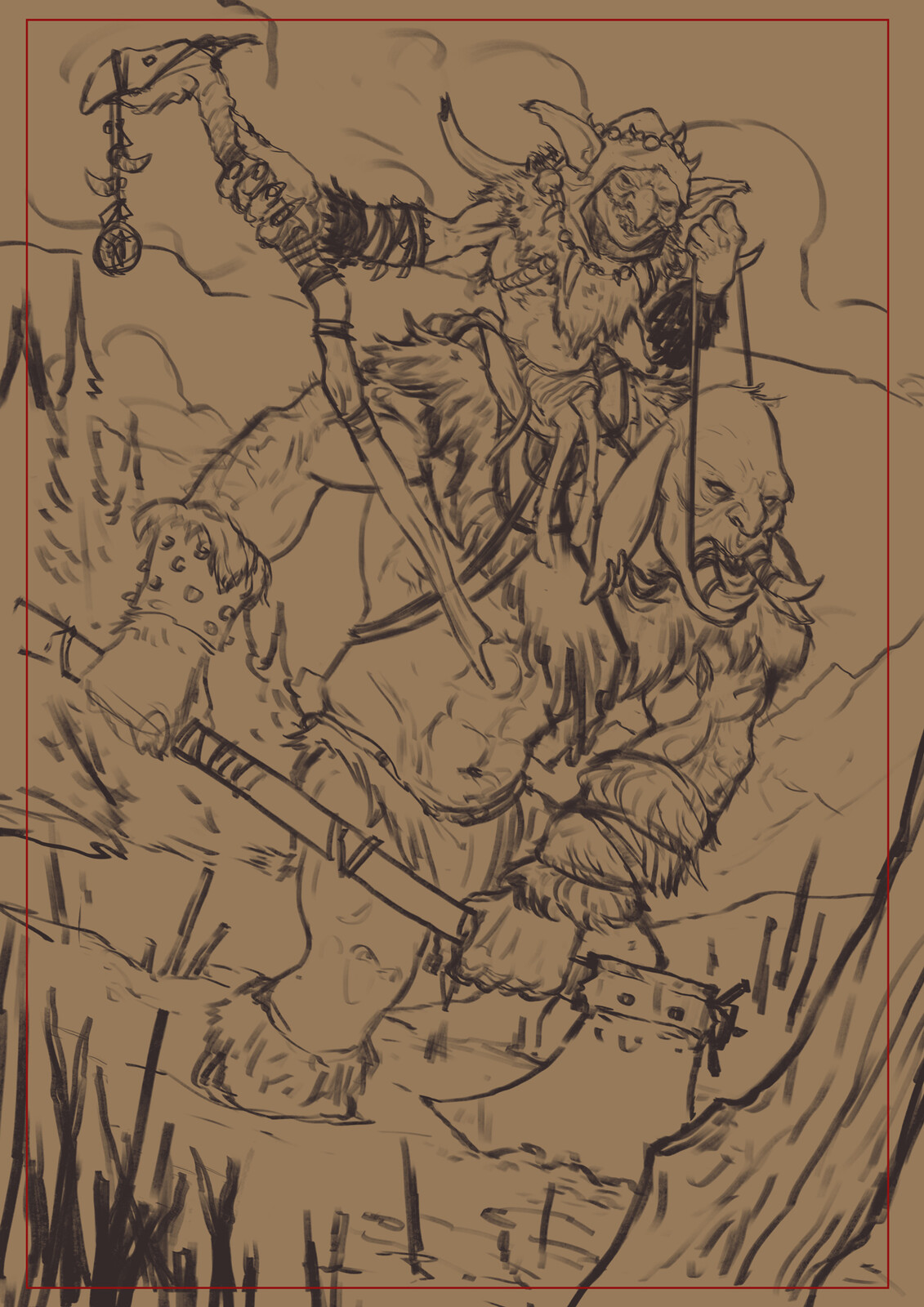 Rough lineart