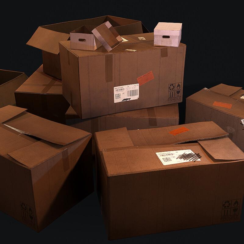 Cardboard Boxes - (Horror Corridor)