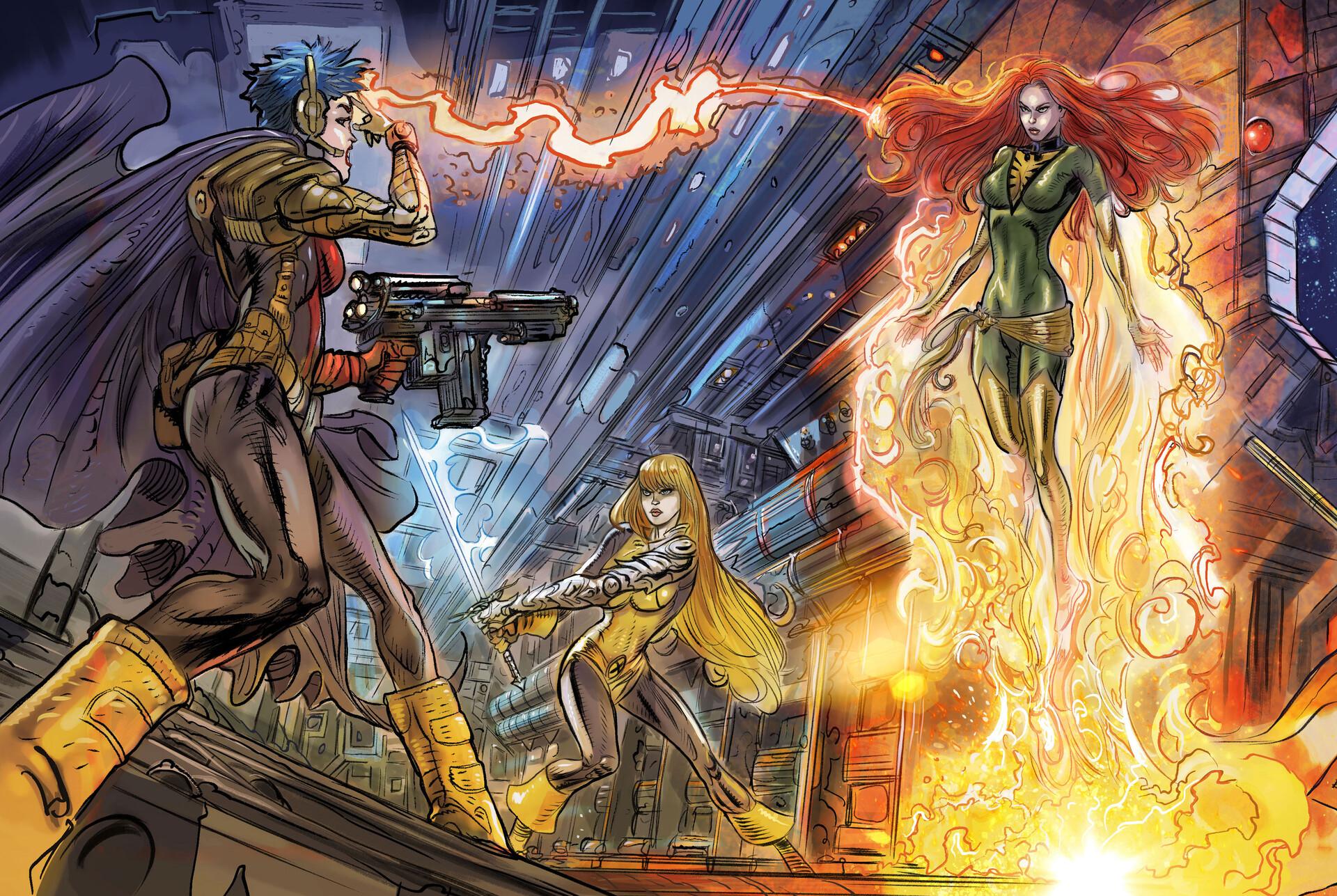 X-Men - Mutant Insurrection: Magneto Showdown (4 panels)