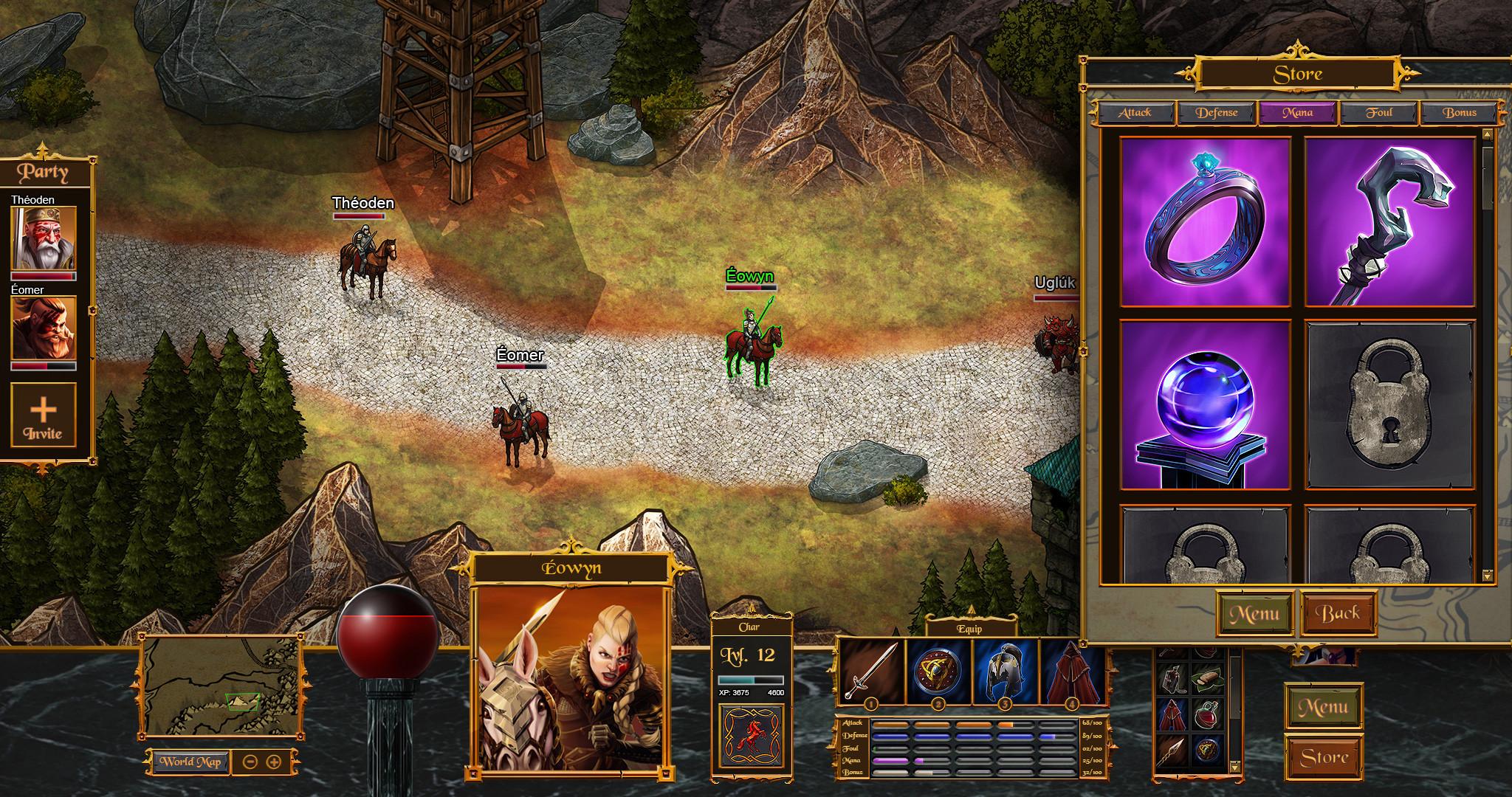 In-Game Mockup