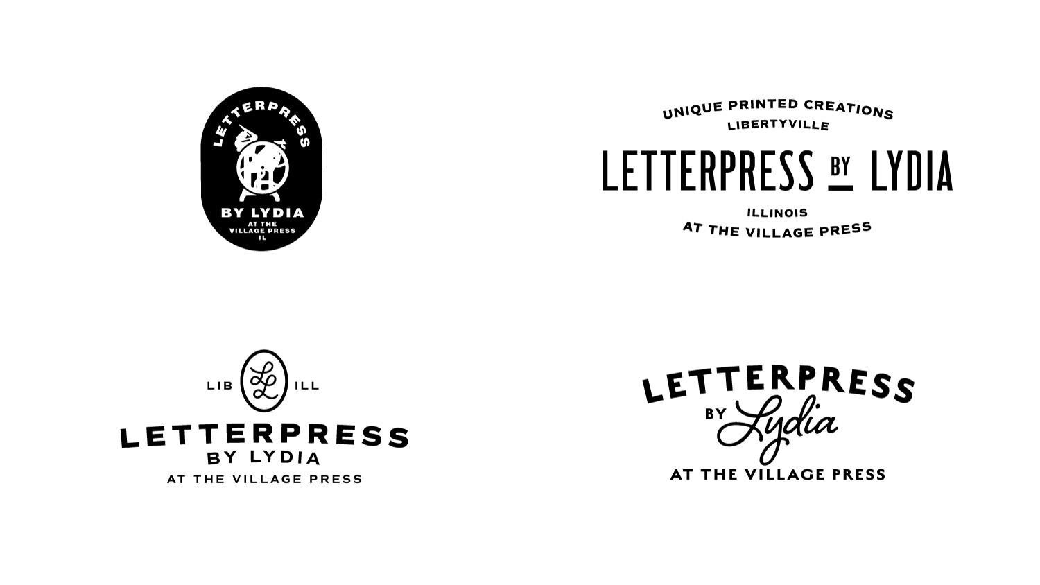 Early concepts for type and logo combinations