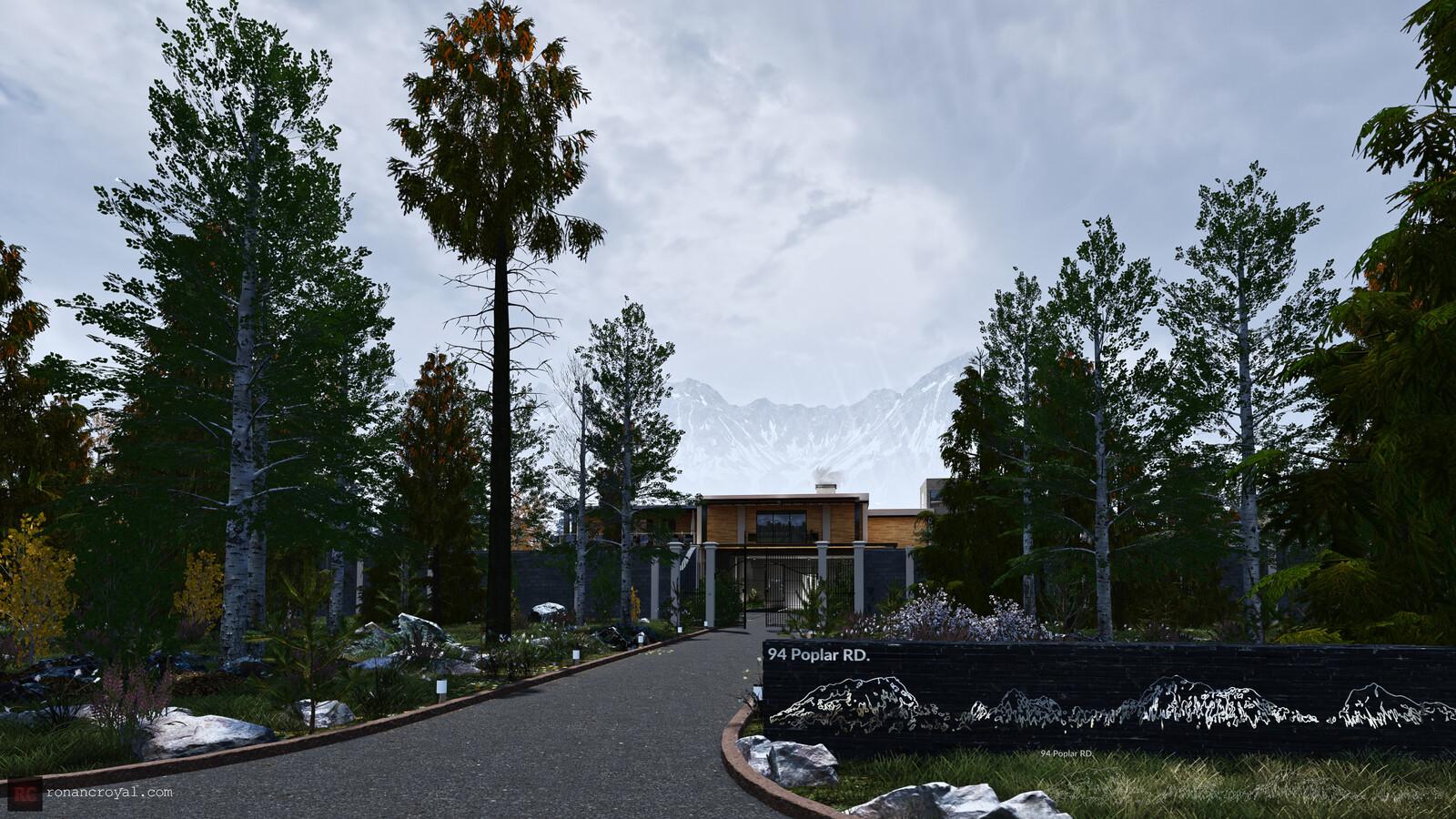 94 Poplar RD. - Unreal Engine 4 Interactive ArchViz Scene