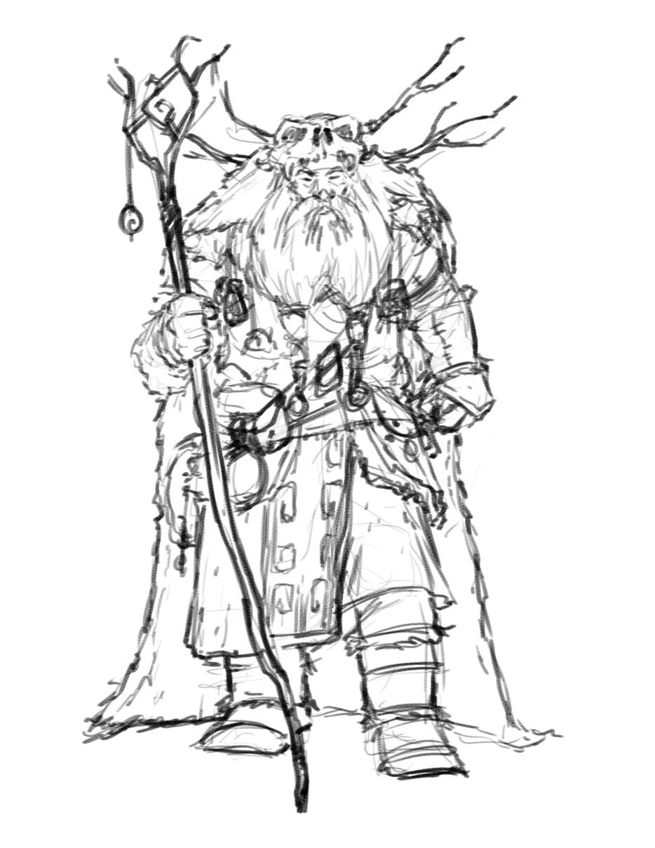 Human Shaman sketch