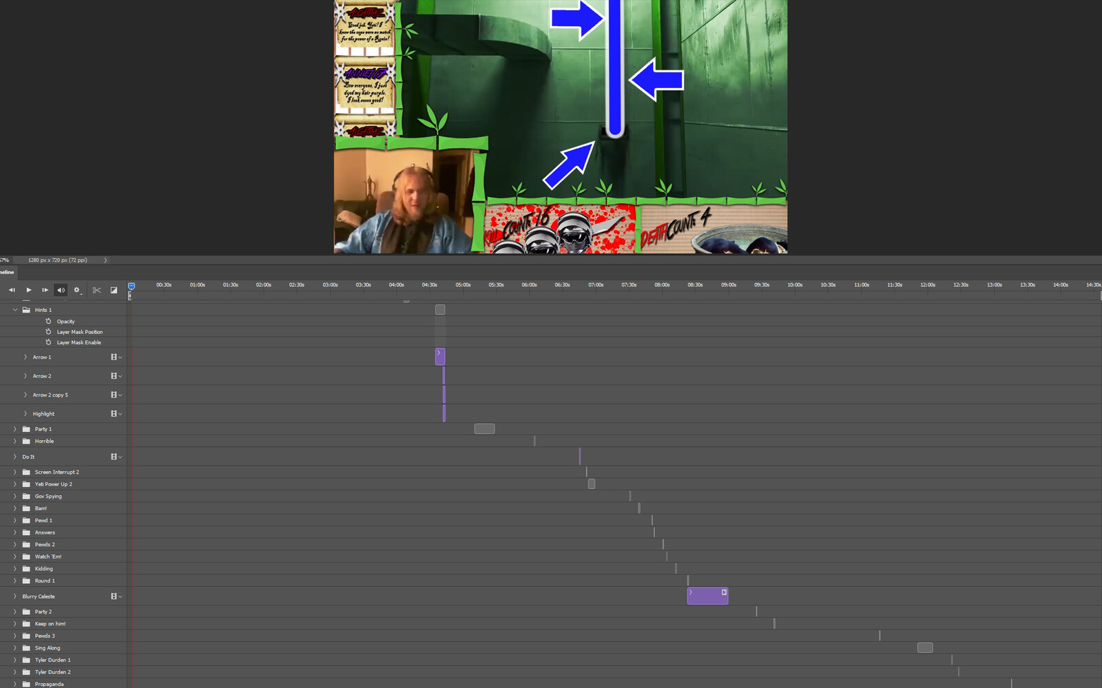 """The """"The Least Obvious Route"""" visual effect within Photoshop video editor"""