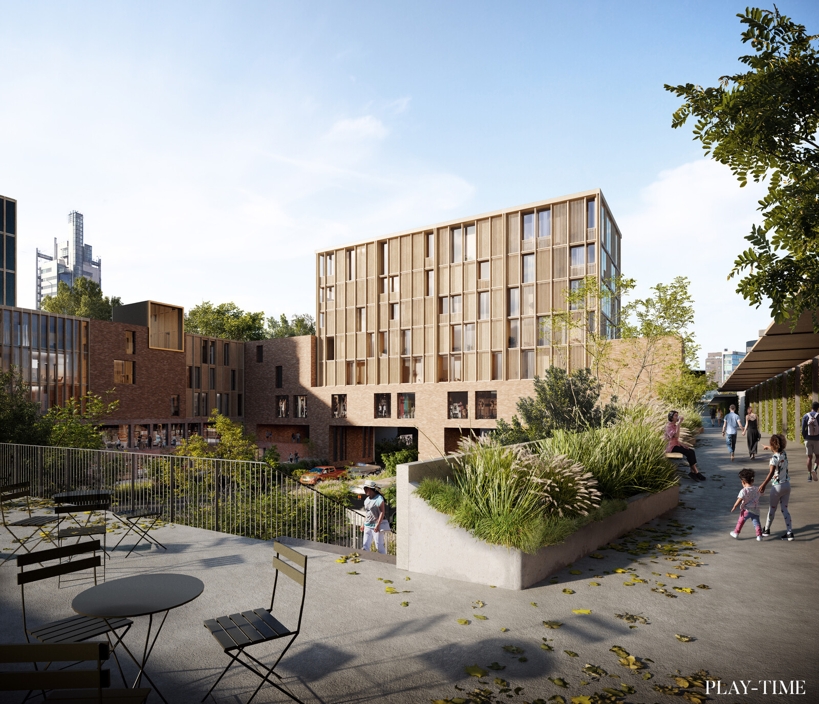 Helsinki Eastern Center International Competition by Harris Kjisik Architects . Image by Play-time