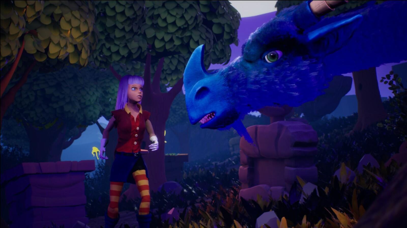 Dragon and Lili (UDK). Promo image, not game screenshot. Lighting and setup by Hans Zenjuga.