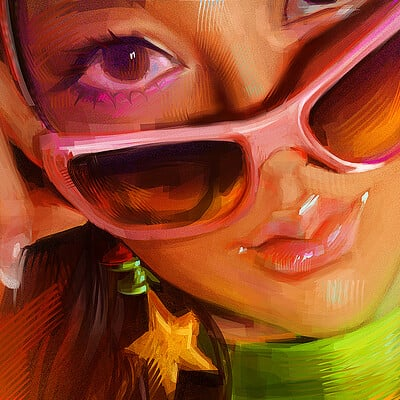 Maika sozo glasses girl study small