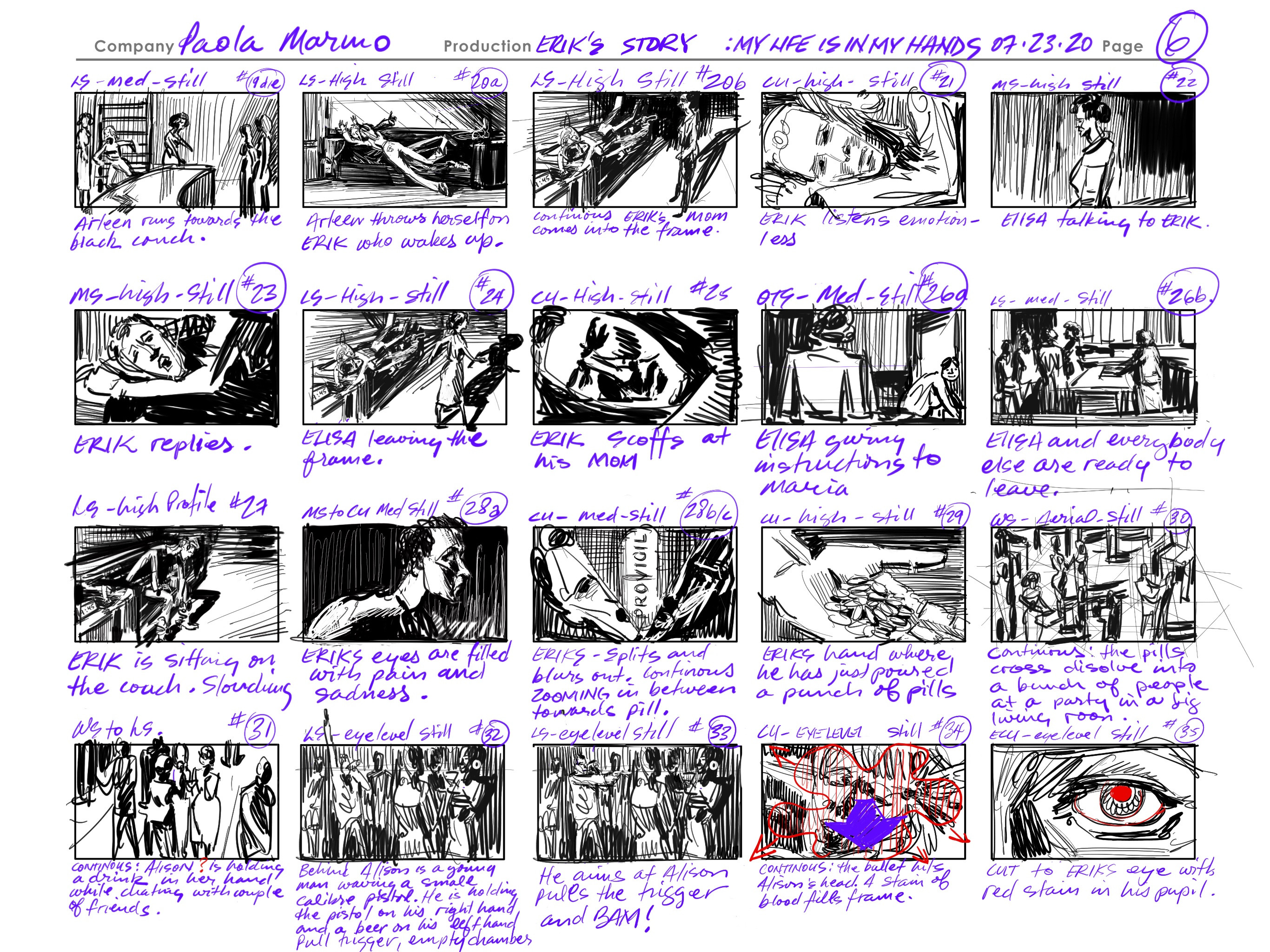 Thumbnails created for a Paola Marino film created by VInce Mancuso