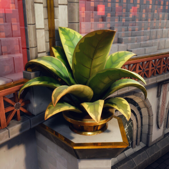 Jungle-like potted plant, because even deathmatch arenas need a softer touch here and there