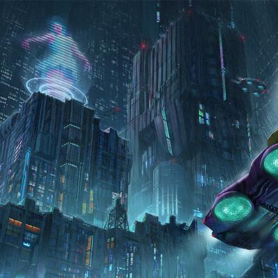 Niwa jongkind small scifi cyberpunk environment paintover niwa jongkind