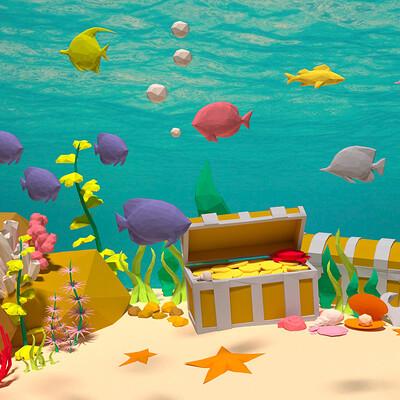 Awessets underwater scene render