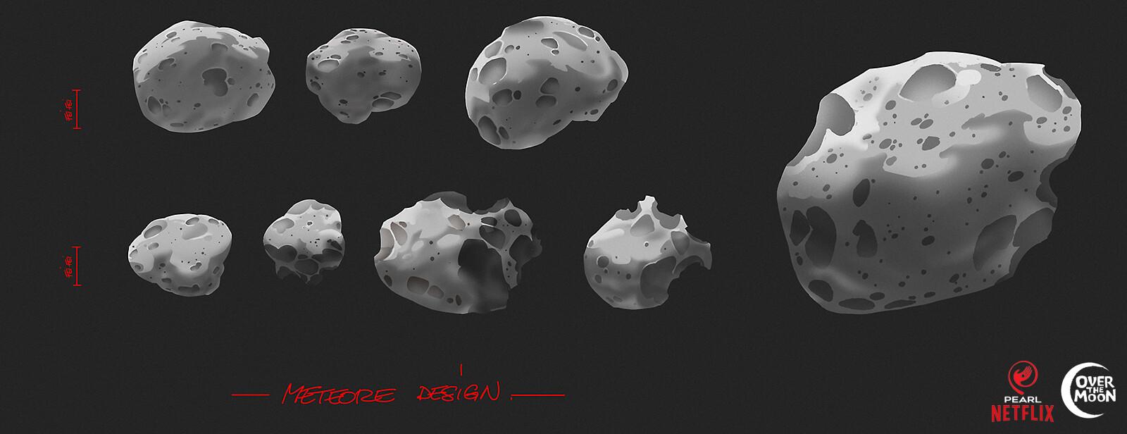 Moon - meteors design