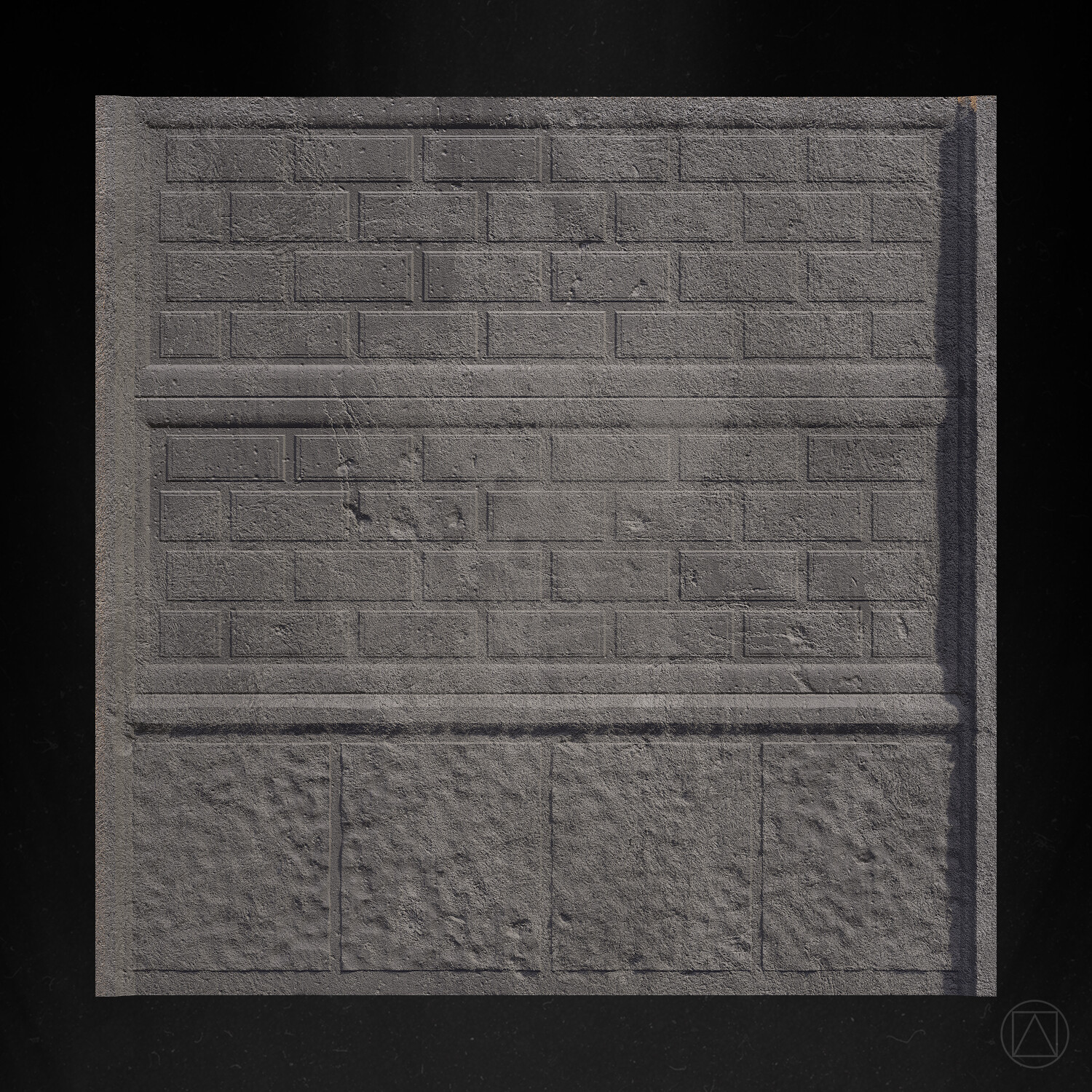 Tile with wall shape.