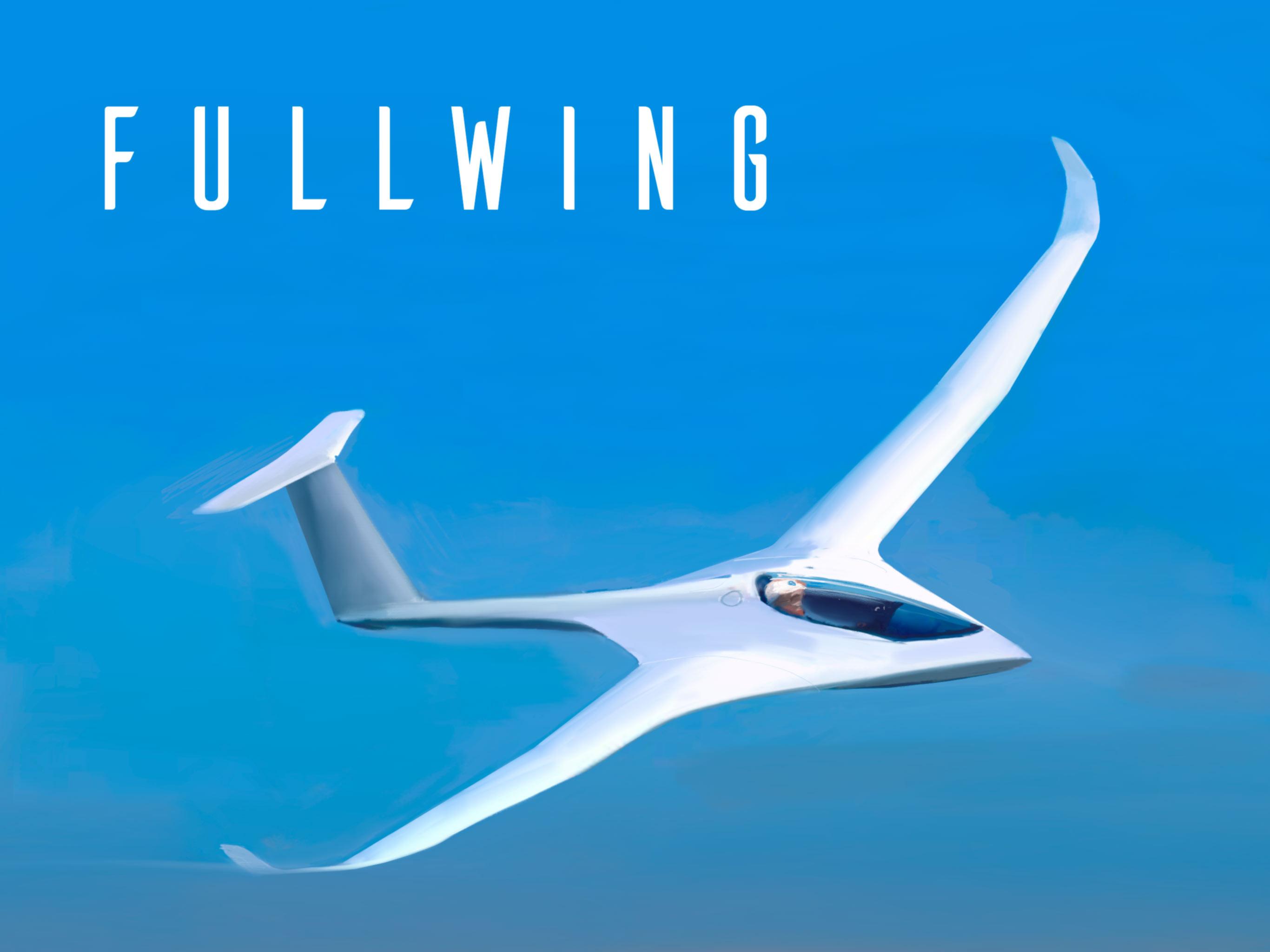 Fullwing Sailplane Glider concept  sketch by Alan Mattanó SoaringStarsLab  2018