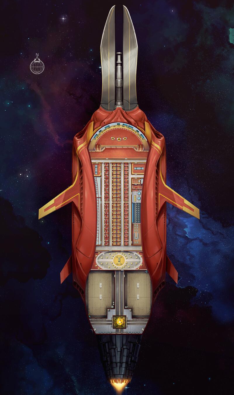 Skyward Glory ship interior map