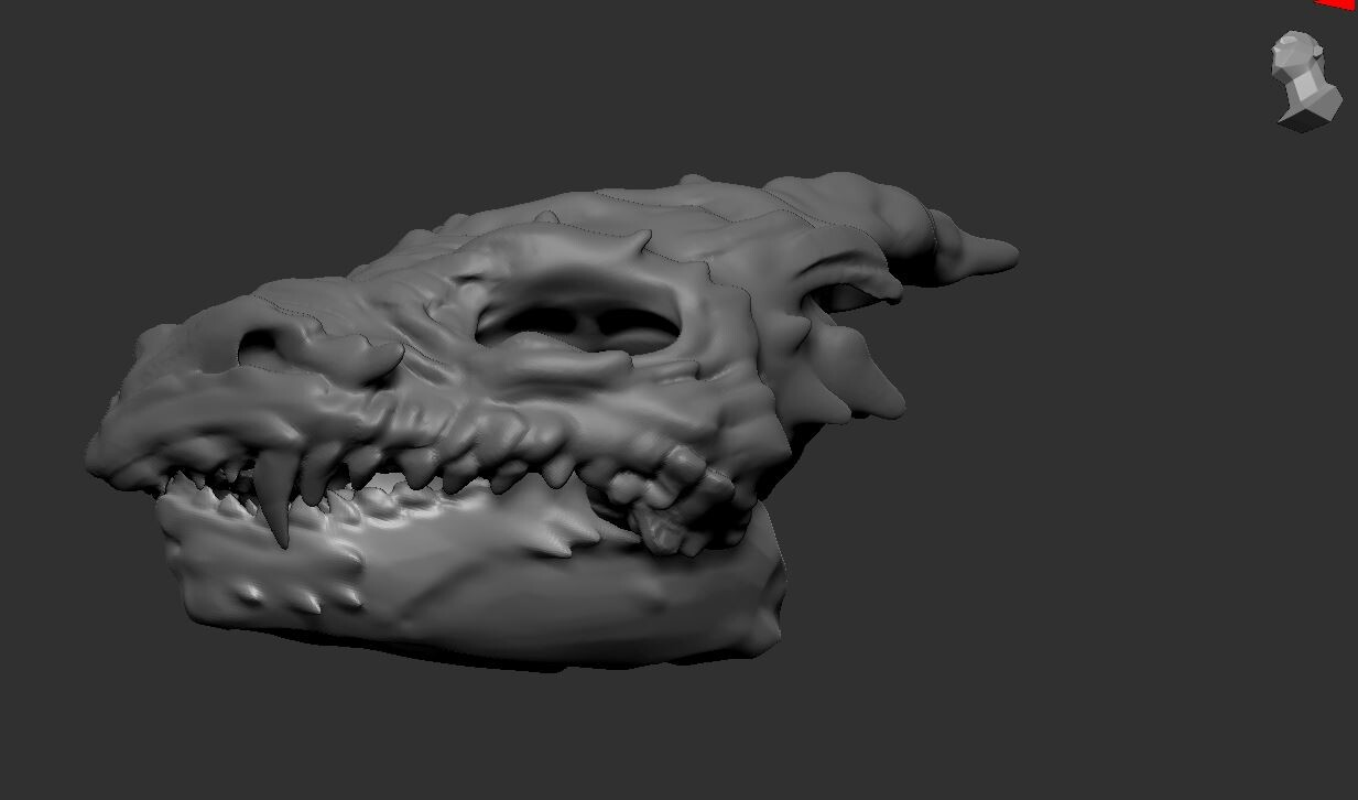 3D Sculpting - Dragon Skull