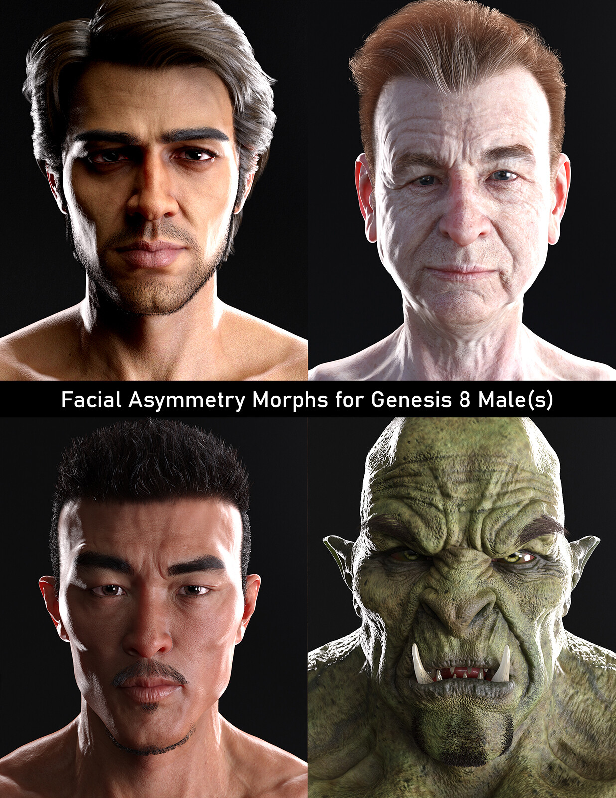 MK Facial Asymmetry Morphs for Genesis 8 Male(s)