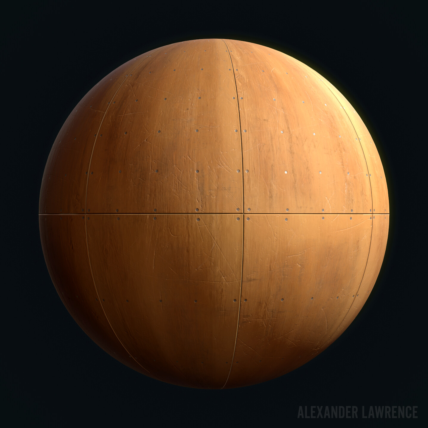 This is one of two bare wood floor materials used on the ramp. Procedurally generated in Substance Designer.