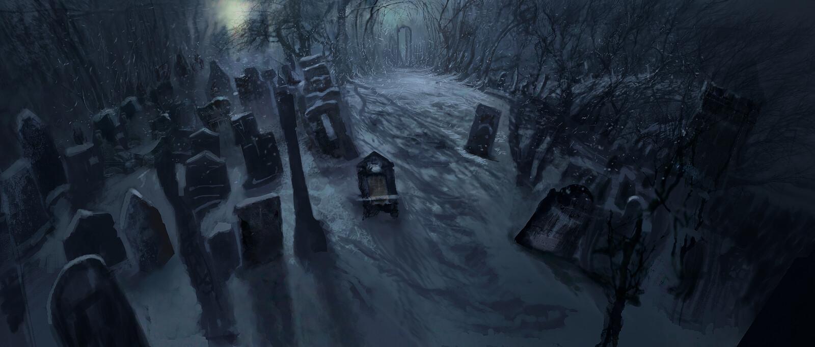 A Christmas Carol, Graveyard