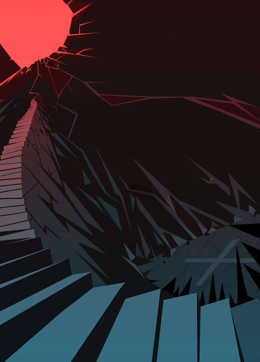 """décor pour le clip """"Lucifer is Sleeping""""  de Psykup"""