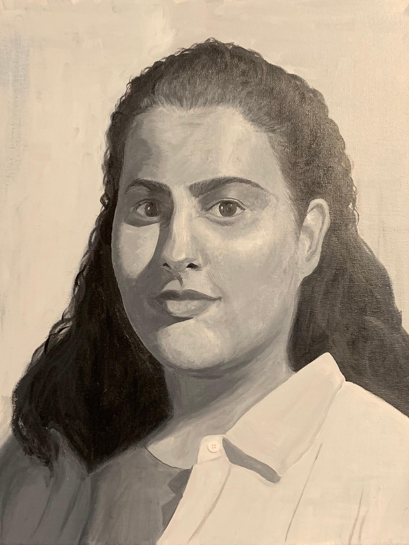 Self Portrait   Acrylic paint on canvas