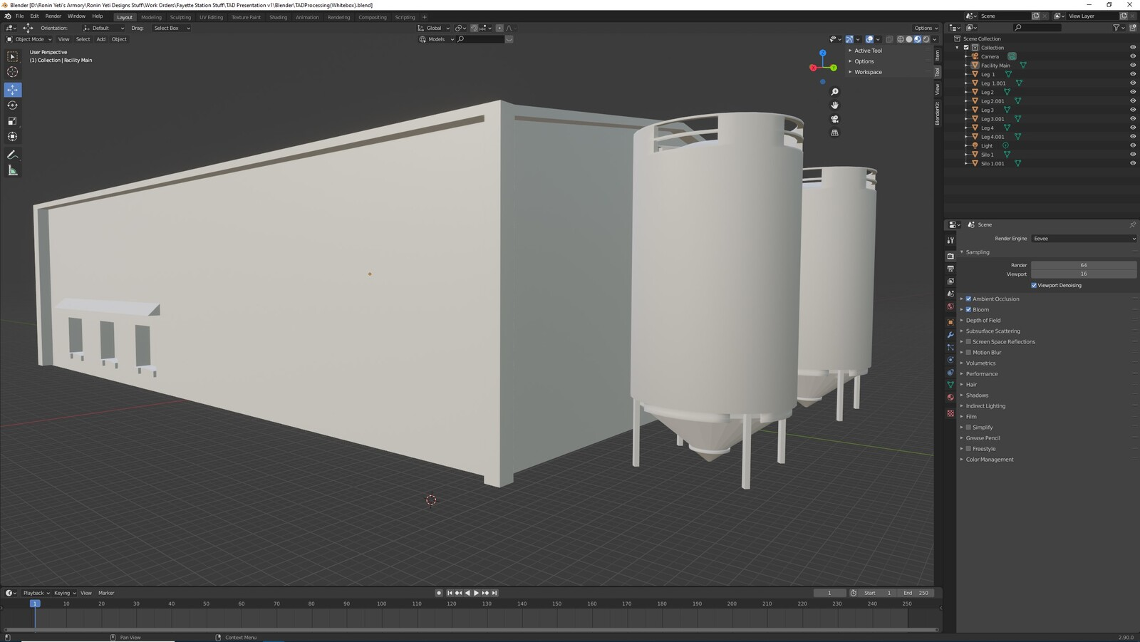 The first angle for the TAD Presentation Processing Facility (Whitebox version)