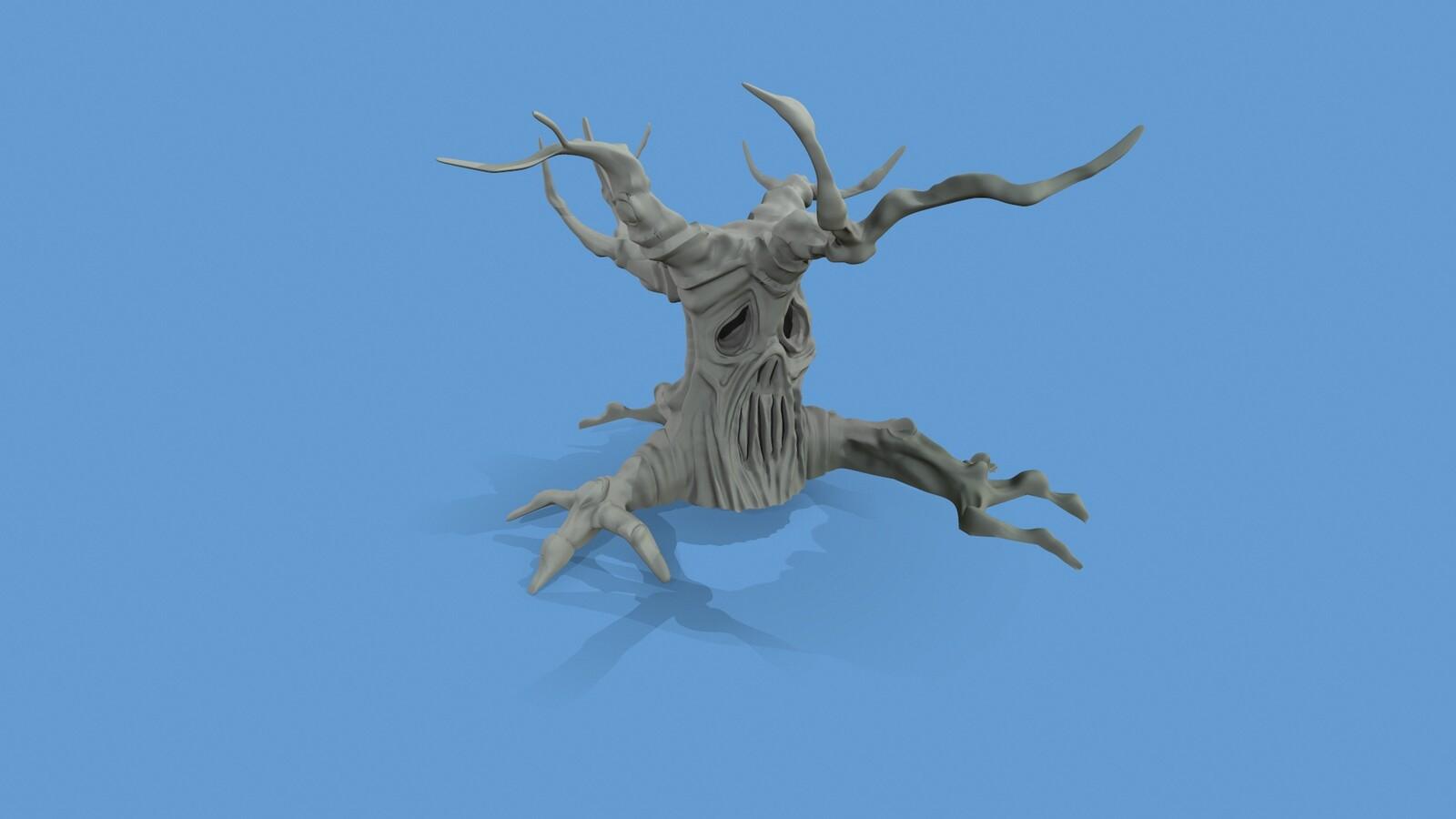 Ghost tree (mudbox sculpt)