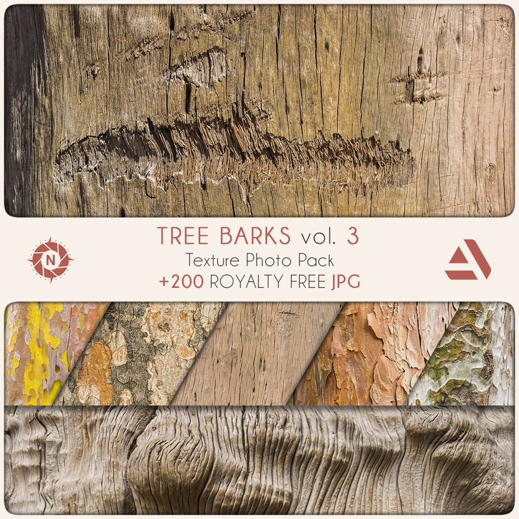 Texture Photo Pack: Tree Barks volume 3  https://www.artstation.com/a/165833