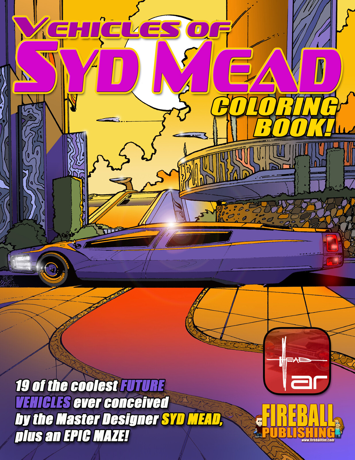 VEHICLES of SYD MEAD Coloring Book