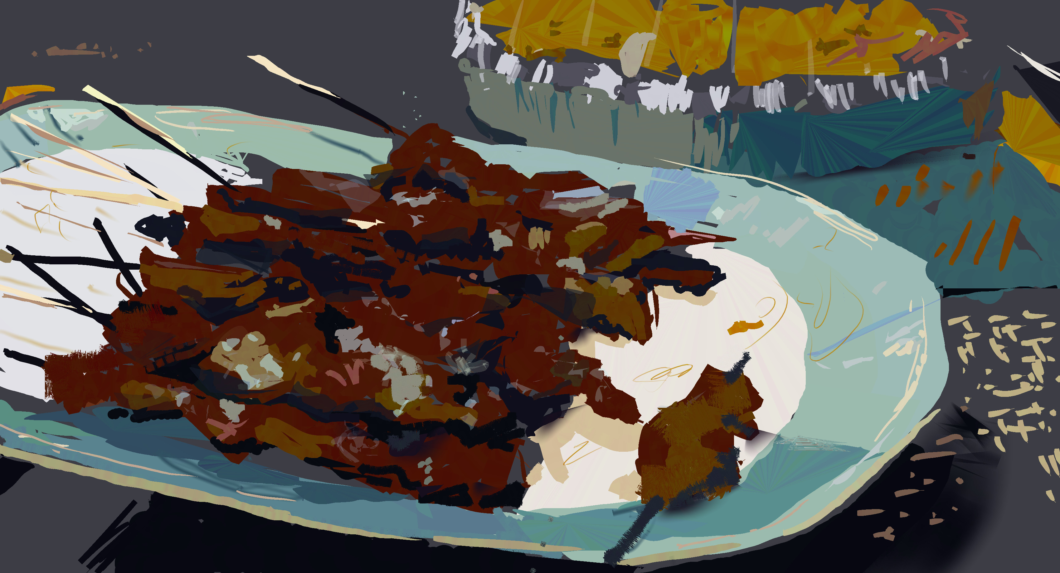 Thanksgiving Skewers. Painted from life.