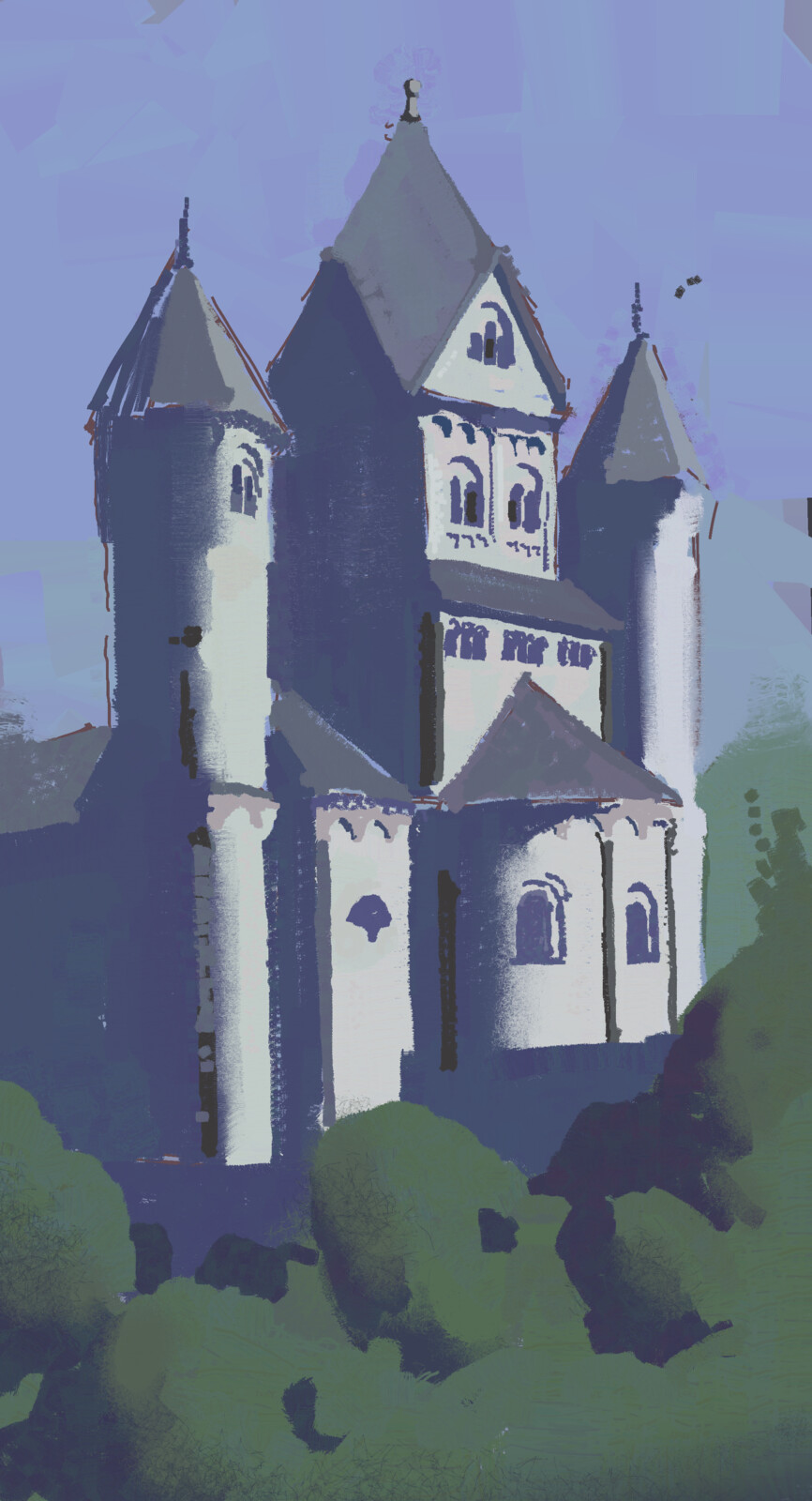 Castle. Painted from reference.