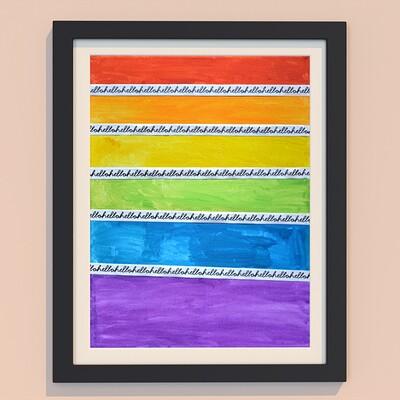 Karl andreas gross hello rainbow sky 00