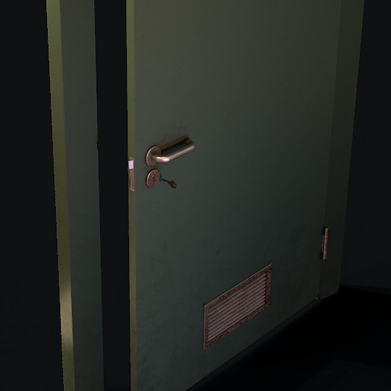 Metal Door - (Horror Corridor)